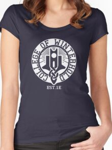 College of Winterhold Est. 1E (white) Women's Fitted Scoop T-Shirt