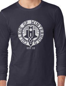 College of Winterhold Est. 1E (white) Long Sleeve T-Shirt