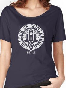 College of Winterhold Est. 1E (white) Women's Relaxed Fit T-Shirt