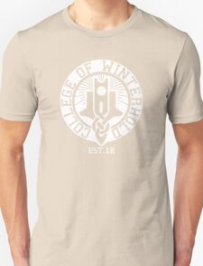 College of Winterhold Est. 1E (white) T-Shirt