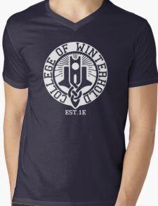College of Winterhold Est. 1E (white) Mens V-Neck T-Shirt