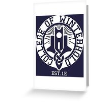 College of Winterhold Est. 1E (white) Greeting Card