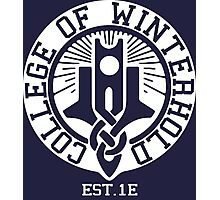 College of Winterhold Est. 1E (white) Photographic Print