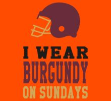 I Wear Burgundy on Sundays Kids Tee