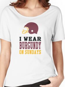 I Wear Burgundy on Sundays Women's Relaxed Fit T-Shirt