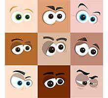 Cartoon Eyes Photographic Print