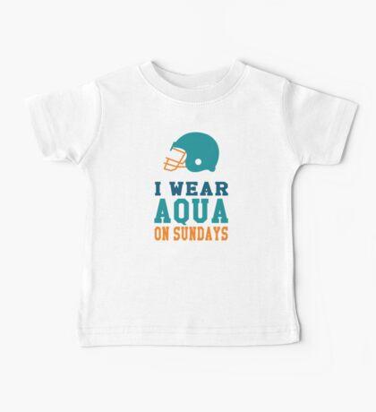 I Wear Aqua on Sundays Baby Tee