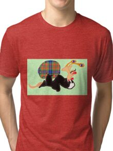 Simpson Snail Slides Out In Style, Kinda Like Fred Astaire Tri-blend T-Shirt