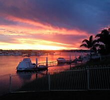Bribie Island marina sunset  by waynemac