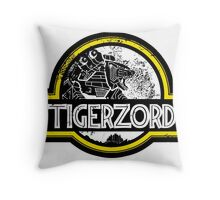 Jurassic Power White Throw Pillow