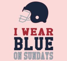 I Wear Blue on Sundays Kids Clothes