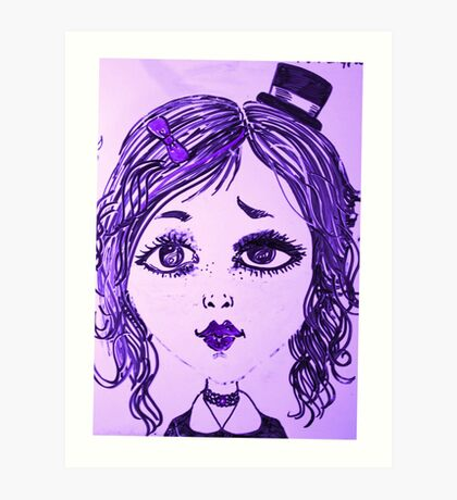Journey with a purple mirror Art Print