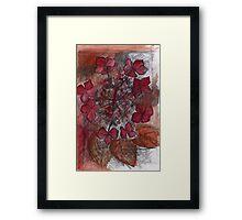 Study in Alizarin and Burnt Siena Framed Print
