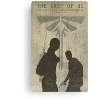 The Last Of Us Game Poster Canvas Print