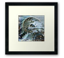 Beach Collage 2 Framed Print