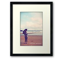 do you want to go to the seaside? Framed Print