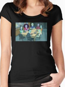 Community Study Group Rick and Morty edition Women's Fitted Scoop T-Shirt