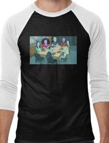Community Study Group Rick and Morty edition Men's Baseball ¾ T-Shirt