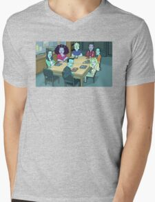 Community Study Group Rick and Morty edition Mens V-Neck T-Shirt