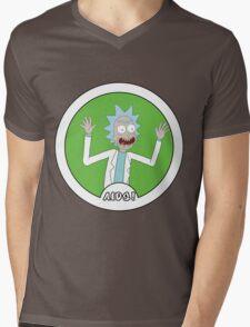 Rick and Morty: AIDS! Mens V-Neck T-Shirt