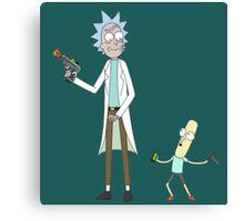 Rick and Mr. PoopyButthole Canvas Print