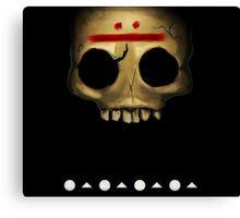 African Skull Mask Canvas Print