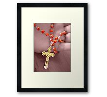 Saying the Rosary Framed Print