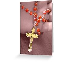 Saying the Rosary Greeting Card