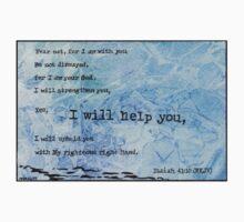 Isiah 41:10 Bible Verse Watercolor Painting Kids Tee