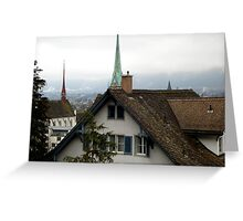 Rooftops in Zurich Greeting Card