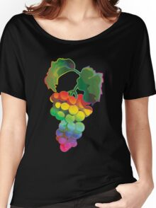 Rainbow Grapes Women's Relaxed Fit T-Shirt