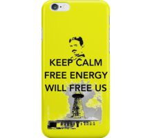 Keep Calm Tesla Free Us iPhone Case/Skin