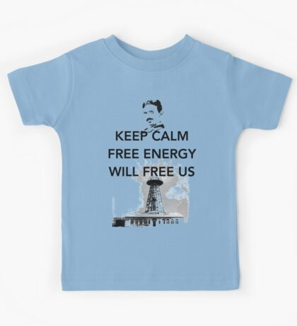 Keep Calm Tesla Free Us Kids Tee
