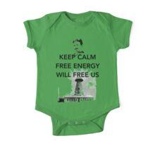 Keep Calm Tesla Free Us One Piece - Short Sleeve