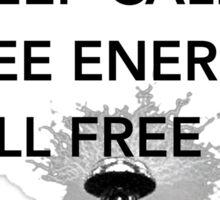 Keep Calm Tesla Free Us Sticker