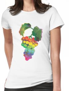 Grapes Rainbow Style Womens Fitted T-Shirt