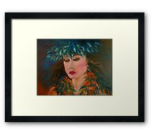Merrie Monarch Hula Maiden Framed Print