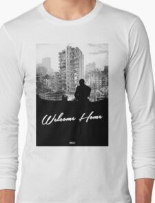 Minimal Silhouette Poster Design - 'Welcome Home' Long Sleeve T-Shirt