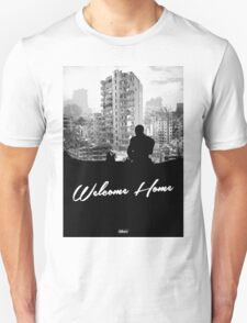 Minimal Silhouette Poster Design - 'Welcome Home' Unisex T-Shirt