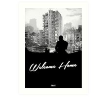 Minimal Silhouette Poster Design - 'Welcome Home' Art Print