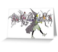 Flying Monkeys and Witch Greeting Card