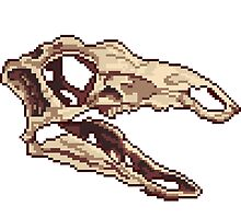 Stegosaurus Skull Sprite by Ashley Dadoun