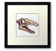 Stegosaurus Skull Sprite Framed Print