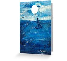 boat on water Greeting Card