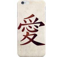 Gaara's 'Love' Tattoo - Naruto iPhone Case/Skin