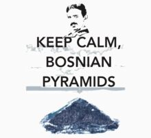 Keep Calm Tesla Bosnian Pyramids Kids Tee