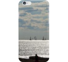 Yachts & Beach walkers. Winters Day, Semaphore, Sth. Aust. iPhone Case/Skin