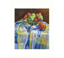 Apples and Nectarines Art Print