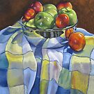 Apples and Nectarines by Ann Nightingale