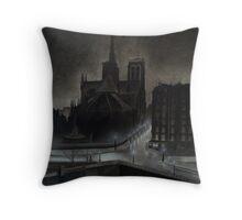 The Razor's Edge - Cathedral Notre Dame Throw Pillow